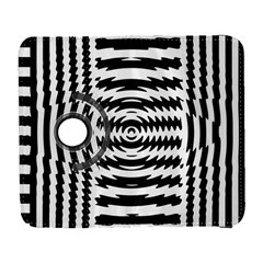 Black And White Abstract Stripped Geometric Background Galaxy S3 (flip/folio) by Nexatart