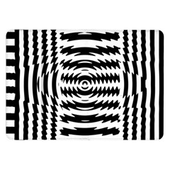 Black And White Abstract Stripped Geometric Background Samsung Galaxy Tab 8 9  P7300 Flip Case by Nexatart