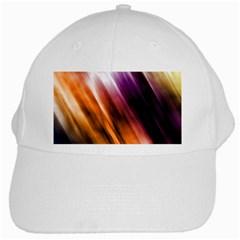 Colourful Grunge Stripe Background White Cap by Nexatart