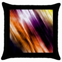 Colourful Grunge Stripe Background Throw Pillow Case (black) by Nexatart
