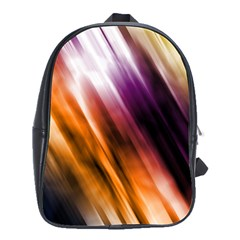 Colourful Grunge Stripe Background School Bags(large)  by Nexatart