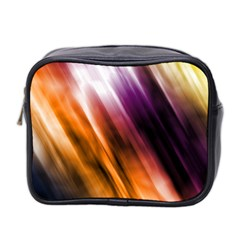 Colourful Grunge Stripe Background Mini Toiletries Bag 2 Side