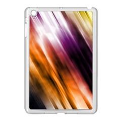 Colourful Grunge Stripe Background Apple Ipad Mini Case (white) by Nexatart