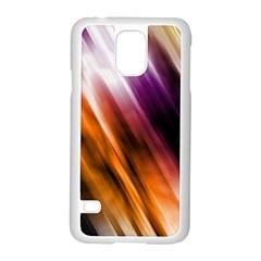Colourful Grunge Stripe Background Samsung Galaxy S5 Case (white) by Nexatart