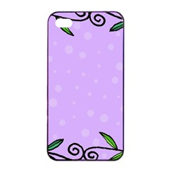 Hand Drawn Doodle Flower Border Apple Iphone 4/4s Seamless Case (black) by Nexatart