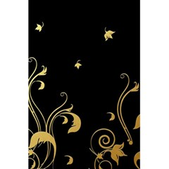 Golden Flowers And Leaves On A Black Background 5 5  X 8 5  Notebooks by Nexatart