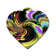 Spiral Of Tubes Dog Tag Heart (two Sides) by Nexatart