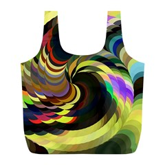 Spiral Of Tubes Full Print Recycle Bags (l)  by Nexatart