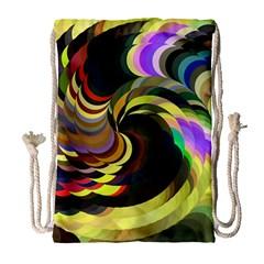 Spiral Of Tubes Drawstring Bag (large) by Nexatart