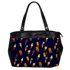 Seamless Cartoon Ice Cream And Lolly Pop Tilable Design Office Handbags