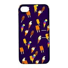 Seamless Cartoon Ice Cream And Lolly Pop Tilable Design Apple Iphone 4/4s Hardshell Case With Stand by Nexatart