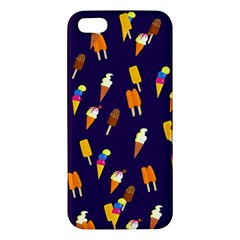 Seamless Cartoon Ice Cream And Lolly Pop Tilable Design Apple Iphone 5 Premium Hardshell Case by Nexatart