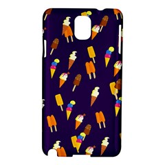 Seamless Cartoon Ice Cream And Lolly Pop Tilable Design Samsung Galaxy Note 3 N9005 Hardshell Case by Nexatart