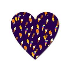 Seamless Cartoon Ice Cream And Lolly Pop Tilable Design Heart Magnet by Nexatart