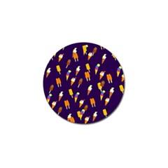 Seamless Cartoon Ice Cream And Lolly Pop Tilable Design Golf Ball Marker (4 Pack) by Nexatart