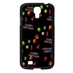 Cartoon Birthday Tilable Design Samsung Galaxy S4 I9500/ I9505 Case (black) by Nexatart