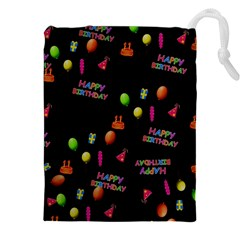 Cartoon Birthday Tilable Design Drawstring Pouches (xxl) by Nexatart