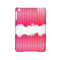 Digitally Designed Pink Stripe Background With Flowers And White Copyspace Ipad Mini 2 Hardshell Cases by Nexatart