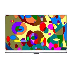 Abstract Digital Circle Computer Graphic Business Card Holders by Nexatart
