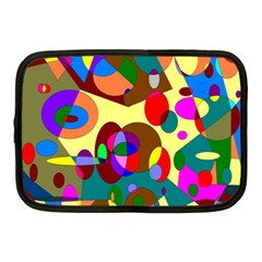 Abstract Digital Circle Computer Graphic Netbook Case (medium)  by Nexatart
