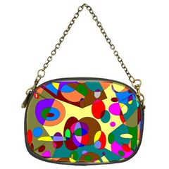 Abstract Digital Circle Computer Graphic Chain Purses (one Side)  by Nexatart