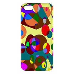 Abstract Digital Circle Computer Graphic Iphone 5s/ Se Premium Hardshell Case by Nexatart