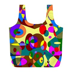 Abstract Digital Circle Computer Graphic Full Print Recycle Bags (l)  by Nexatart