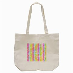 Abstract Stipes Colorful Background Circles And Waves Wallpaper Tote Bag (cream) by Nexatart