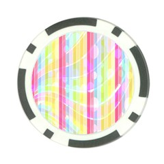 Abstract Stipes Colorful Background Circles And Waves Wallpaper Poker Chip Card Guard by Nexatart