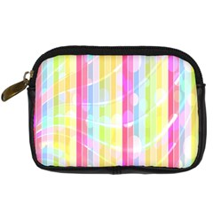 Abstract Stipes Colorful Background Circles And Waves Wallpaper Digital Camera Cases by Nexatart