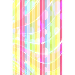 Abstract Stipes Colorful Background Circles And Waves Wallpaper 5 5  X 8 5  Notebooks by Nexatart