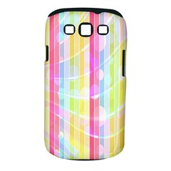 Abstract Stipes Colorful Background Circles And Waves Wallpaper Samsung Galaxy S Iii Classic Hardshell Case (pc+silicone) by Nexatart
