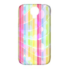 Abstract Stipes Colorful Background Circles And Waves Wallpaper Samsung Galaxy S4 Classic Hardshell Case (pc+silicone) by Nexatart