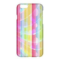Abstract Stipes Colorful Background Circles And Waves Wallpaper Apple Iphone 6 Plus/6s Plus Hardshell Case by Nexatart