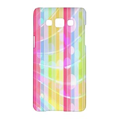 Abstract Stipes Colorful Background Circles And Waves Wallpaper Samsung Galaxy A5 Hardshell Case  by Nexatart