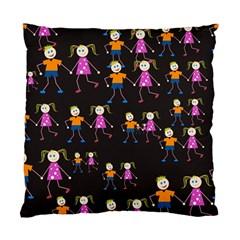 Kids Tile A Fun Cartoon Happy Kids Tiling Pattern Standard Cushion Case (one Side) by Nexatart