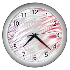 Fluorescent Flames Background With Special Light Effects Wall Clocks (silver)  by Nexatart