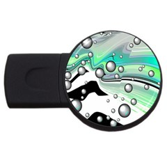 Small And Big Bubbles Usb Flash Drive Round (2 Gb) by Nexatart