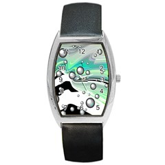 Small And Big Bubbles Barrel Style Metal Watch by Nexatart