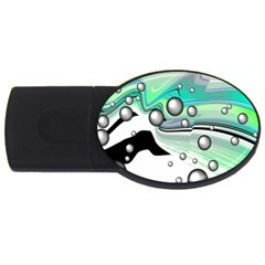 Small And Big Bubbles Usb Flash Drive Oval (4 Gb) by Nexatart