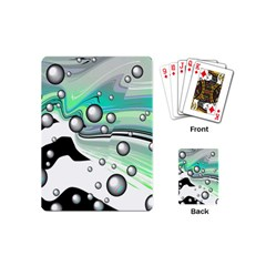 Small And Big Bubbles Playing Cards (mini)  by Nexatart