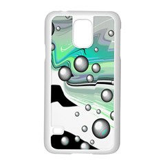 Small And Big Bubbles Samsung Galaxy S5 Case (white) by Nexatart