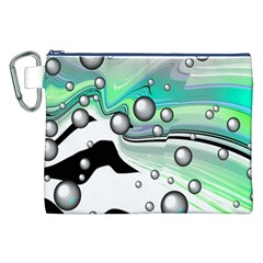 Small And Big Bubbles Canvas Cosmetic Bag (xxl) by Nexatart