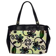 Completely Seamless Tileable Doodle Flower Art Office Handbags by Nexatart