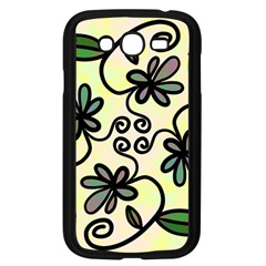 Completely Seamless Tileable Doodle Flower Art Samsung Galaxy Grand Duos I9082 Case (black) by Nexatart