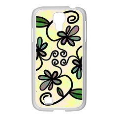 Completely Seamless Tileable Doodle Flower Art Samsung Galaxy S4 I9500/ I9505 Case (white) by Nexatart