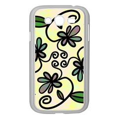 Completely Seamless Tileable Doodle Flower Art Samsung Galaxy Grand Duos I9082 Case (white) by Nexatart