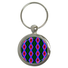 Quadrate Repetition Abstract Pattern Key Chains (Round)  by Nexatart