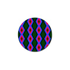 Quadrate Repetition Abstract Pattern Golf Ball Marker by Nexatart