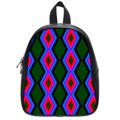 Quadrate Repetition Abstract Pattern School Bags (small)  by Nexatart